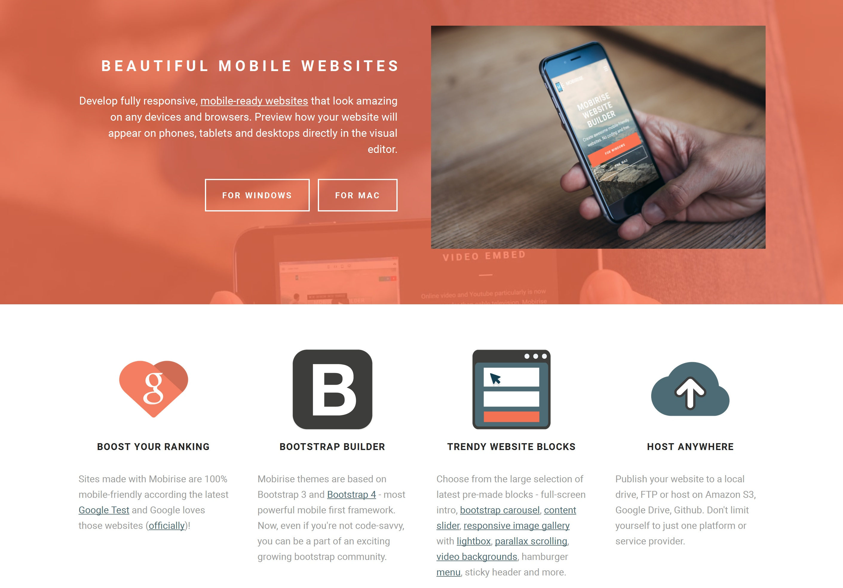 Wysiwyg Mobile Website Builder