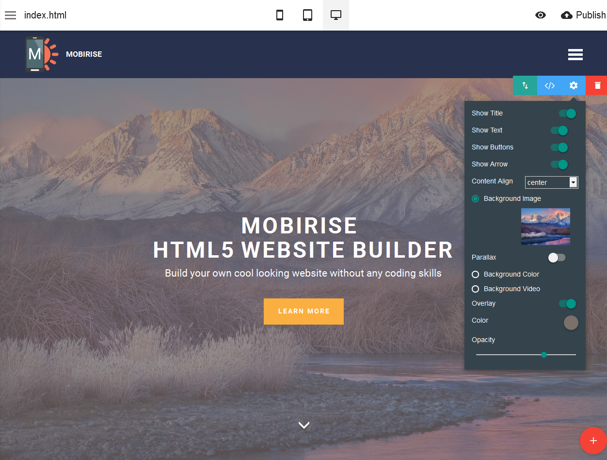 HTML5 Website Builder - photo#13