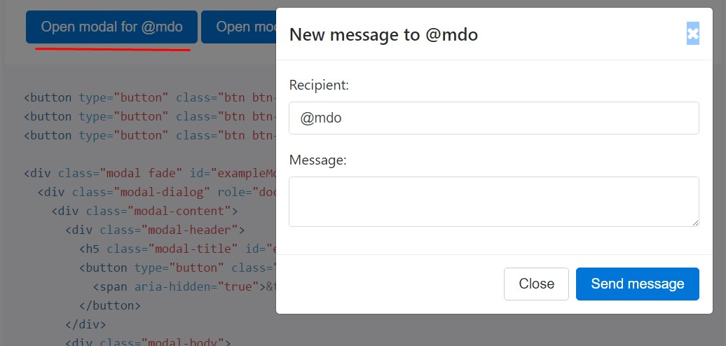 Different modal  material