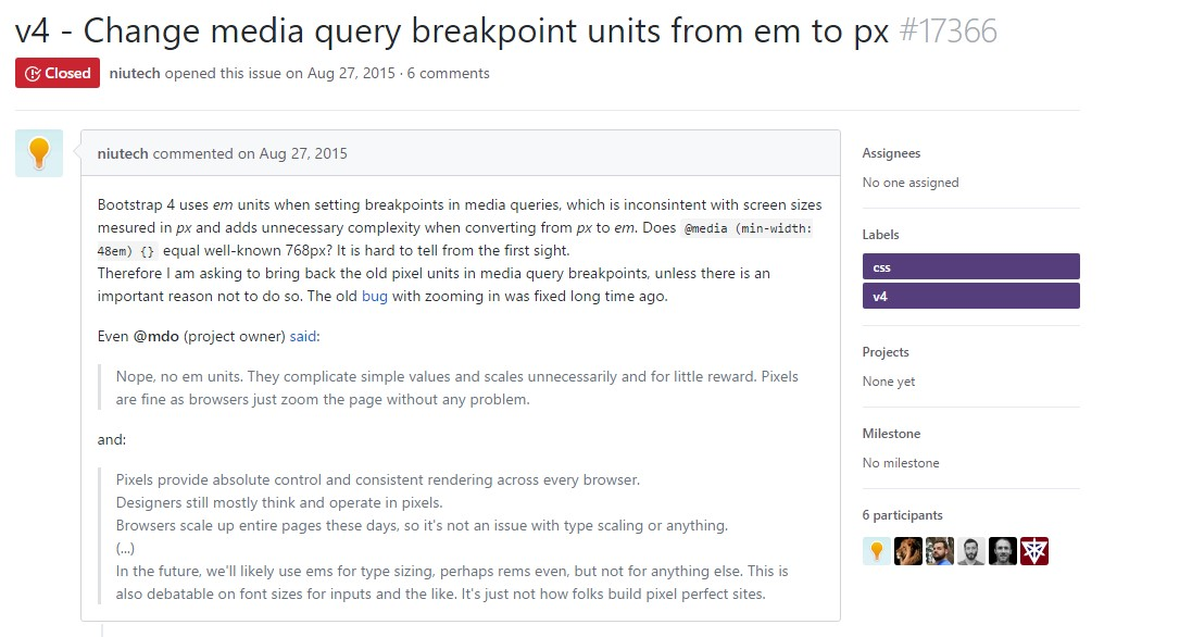 Modify media query breakpoint  systems from <code>&lt;/div&gt;em</code> to <code>px</code>