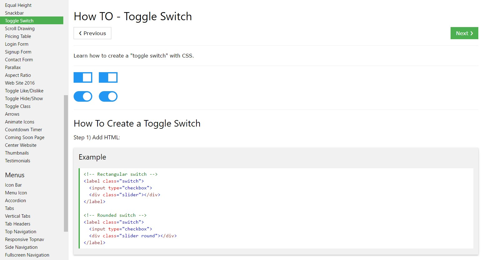 The best way to create Toggle Switch