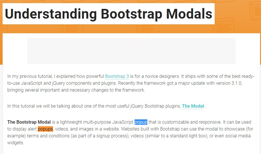 Yet another  beneficial  post  concerning Bootstrap Modal Popup