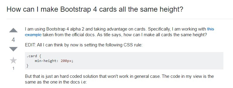 Insights on  precisely how can we  create Bootstrap 4 cards  all the same  height?