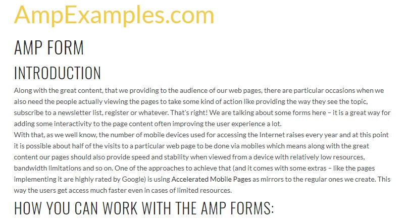 Let us  check AMP project and AMP-form  component?