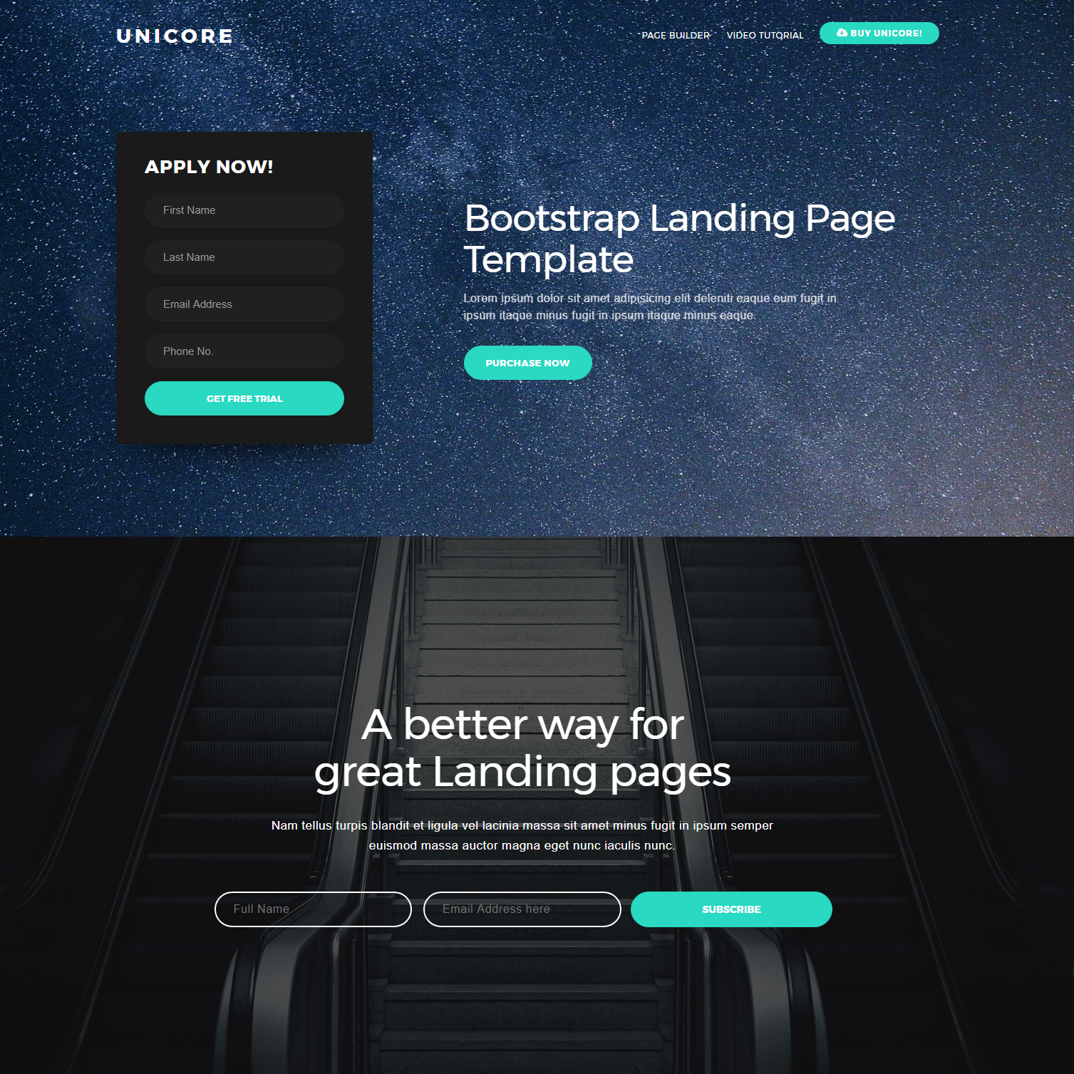 Free Bootstrap One Page Themes