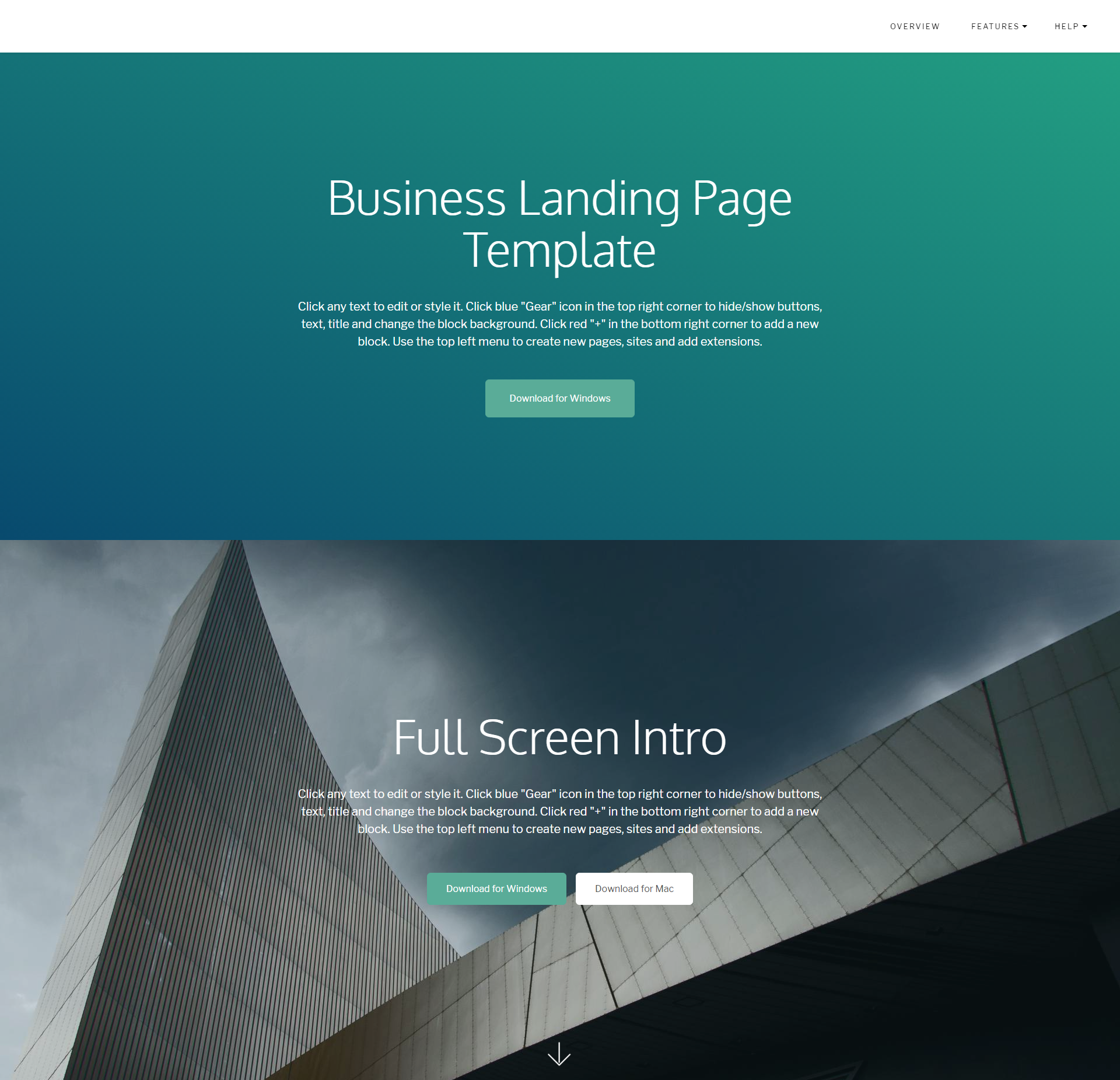 HTML Bootstrap Business Landing Page Templates
