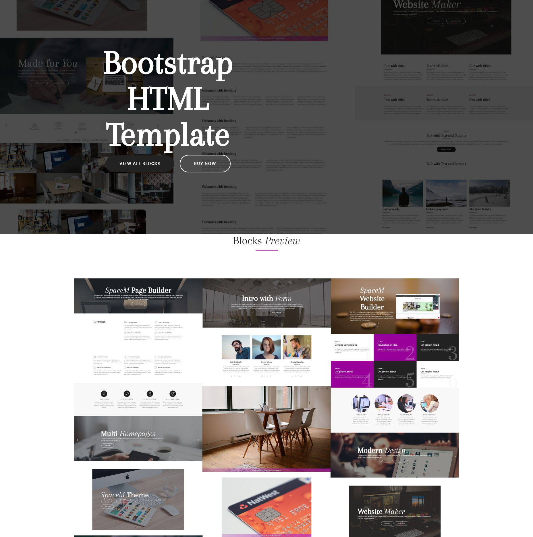 Responsive Bootstrap HTML Templates