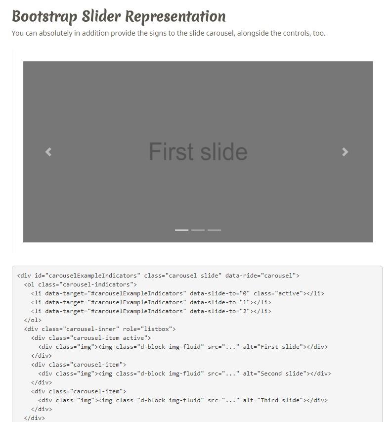 Bootstrap Image Gallery Slider