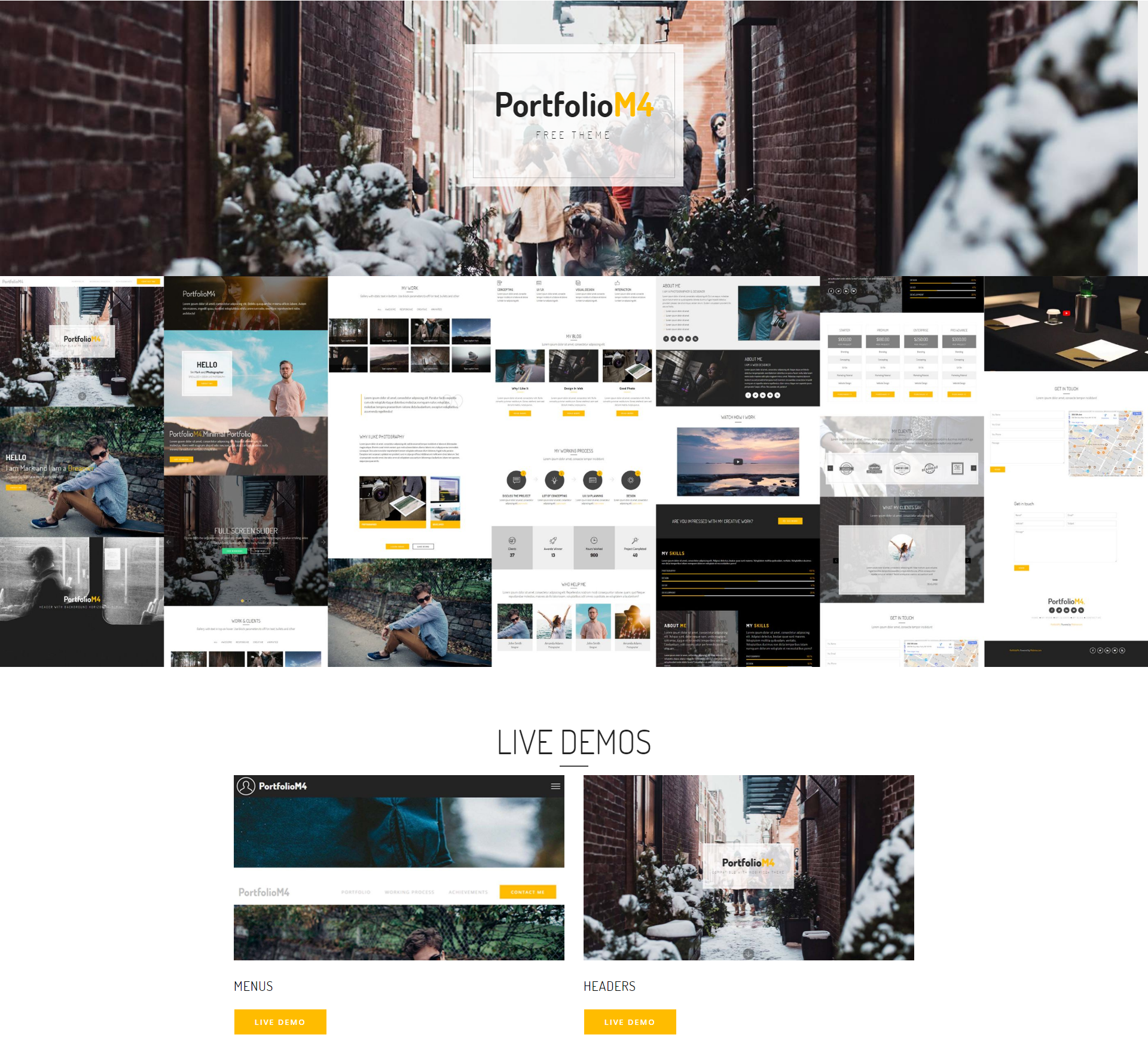 Free Download Bootstrap PortfolioM4 Themes