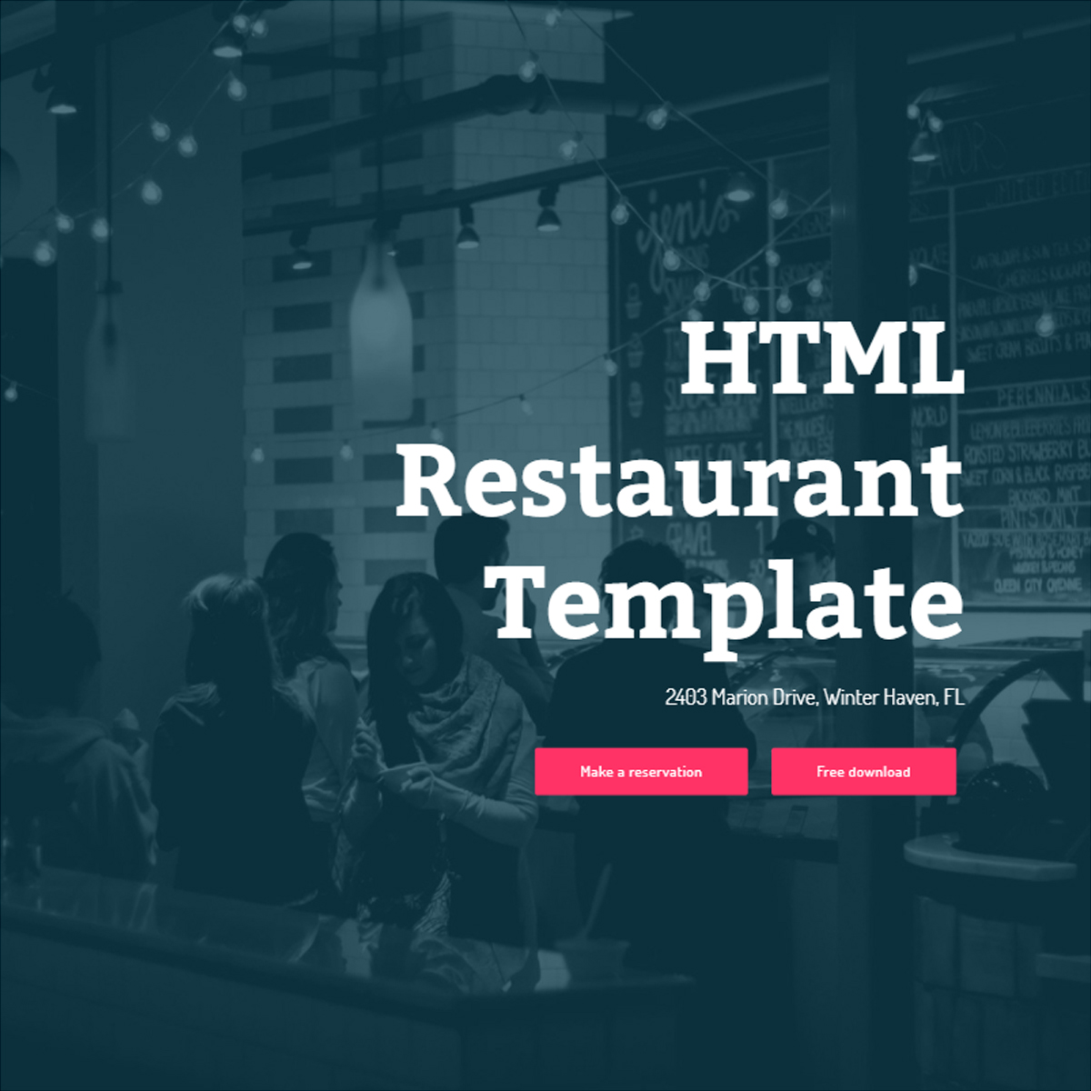 HTML Bootstrap Restaurant Templates