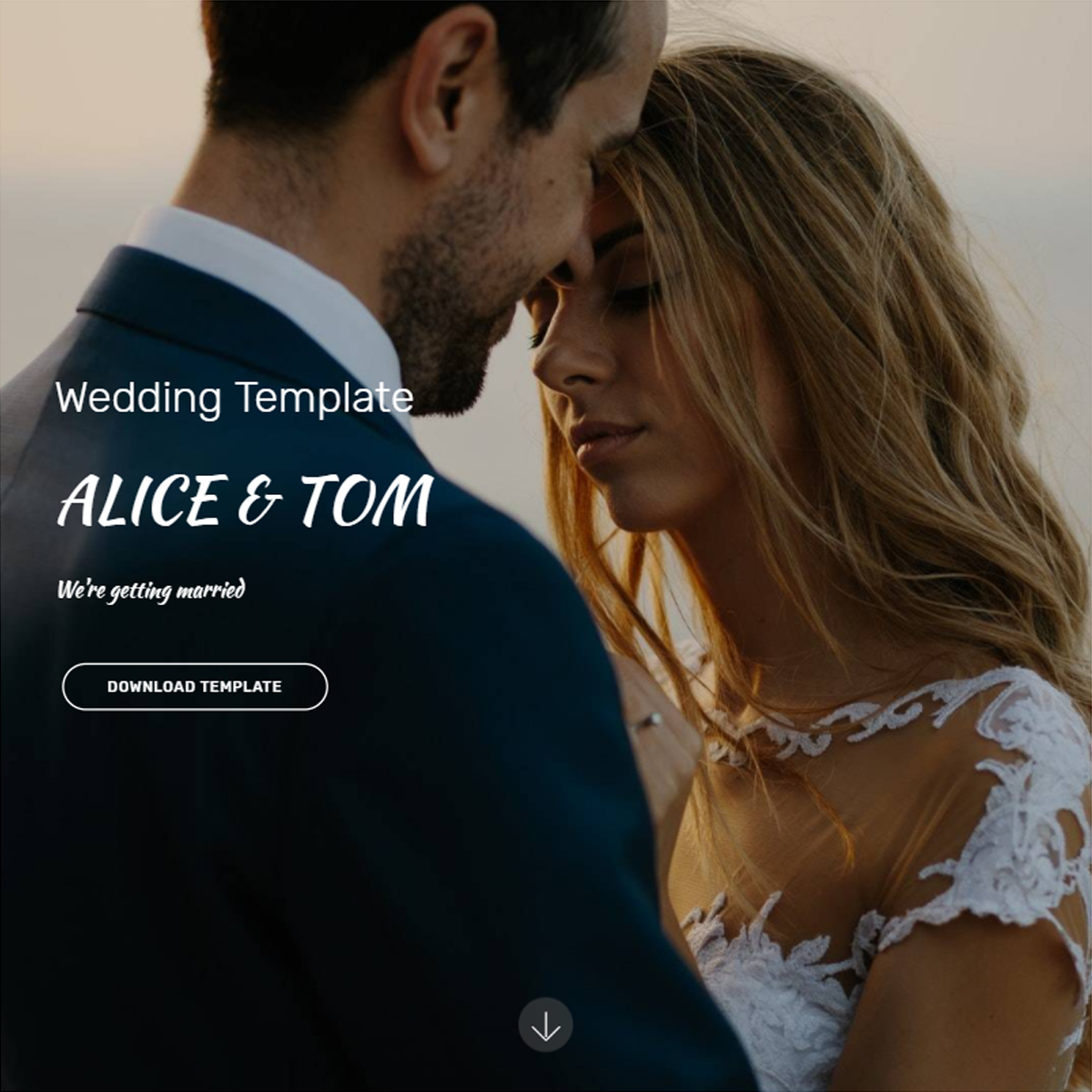 HTML Bootstrap Wedding Themes