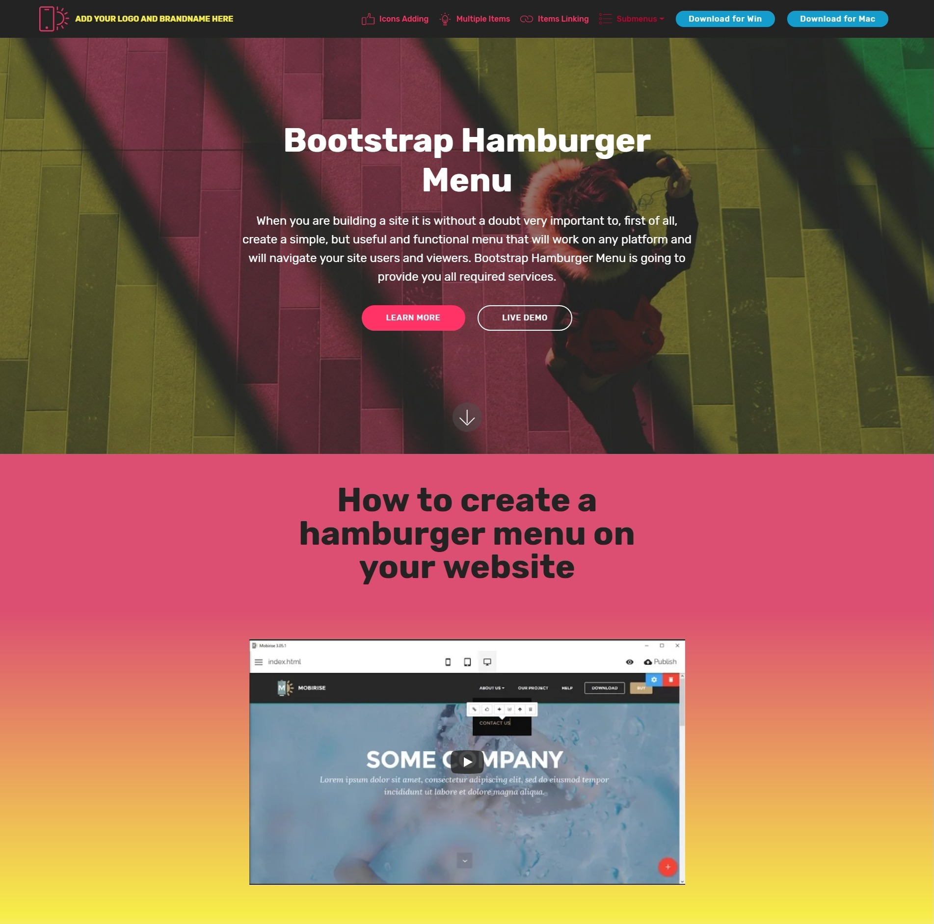 Creative and Beautiful HTML5 Bootstrap Modal Video ...