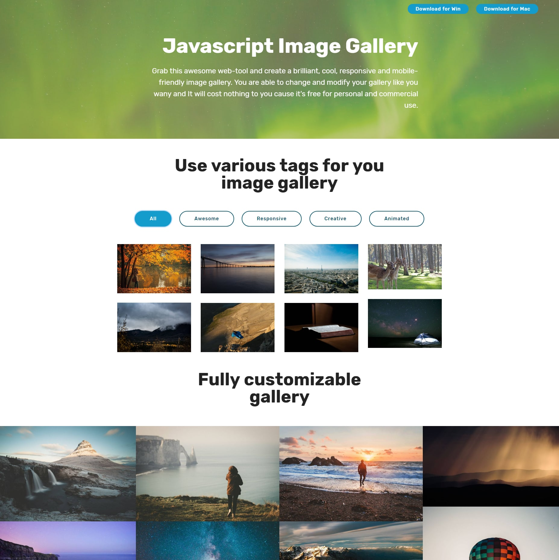 HTML Bootstrap Image Gallery