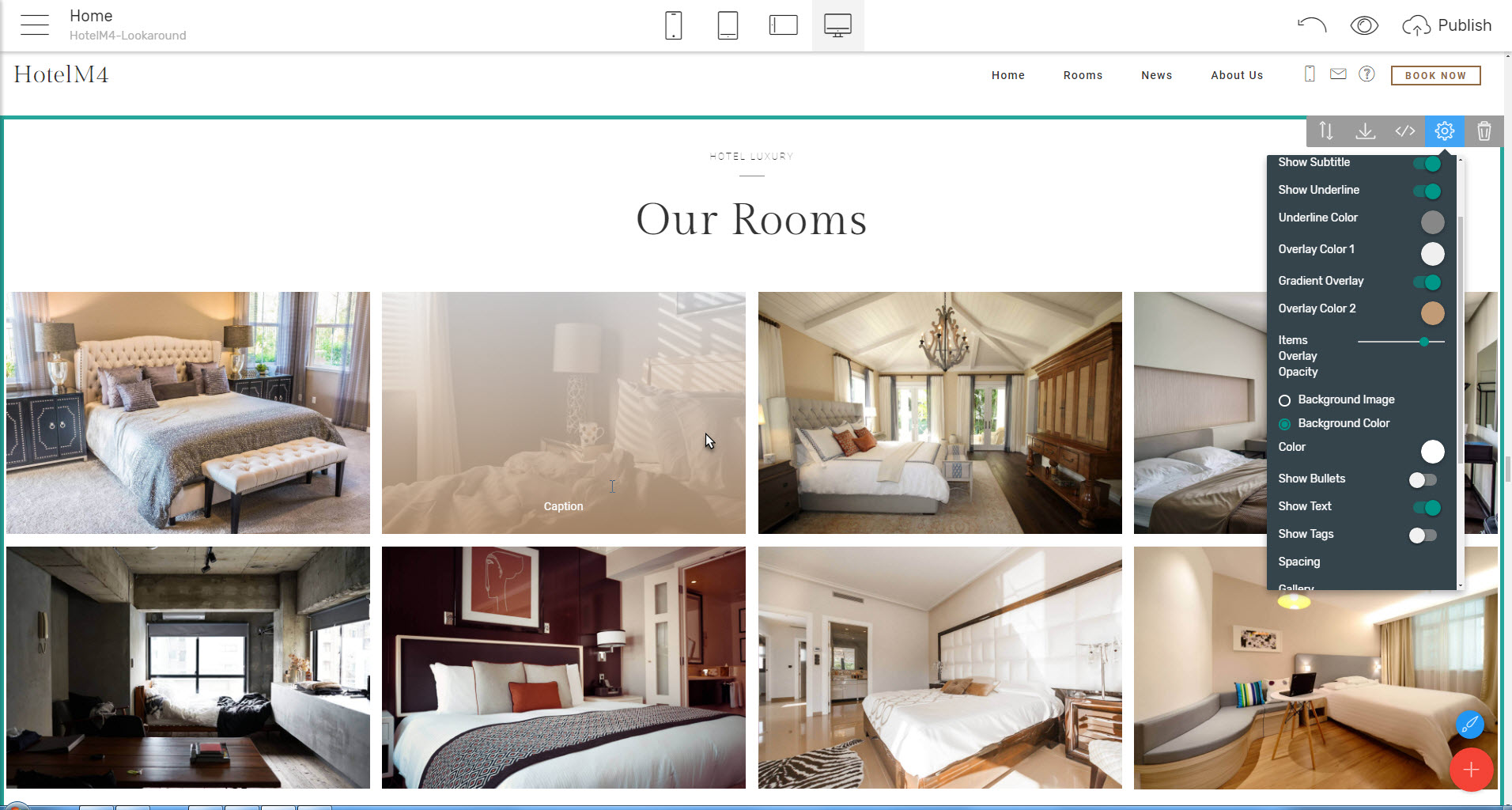 HTML web template gallery