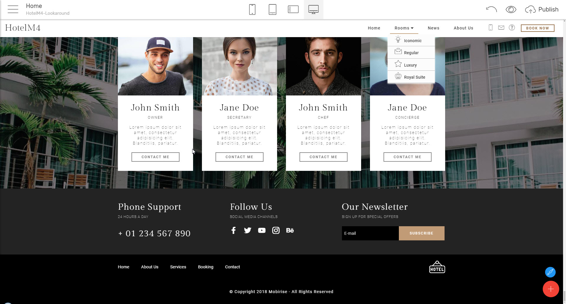 HTML web template