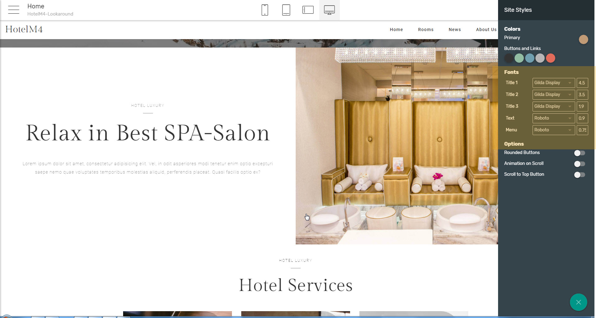html5 hotel template