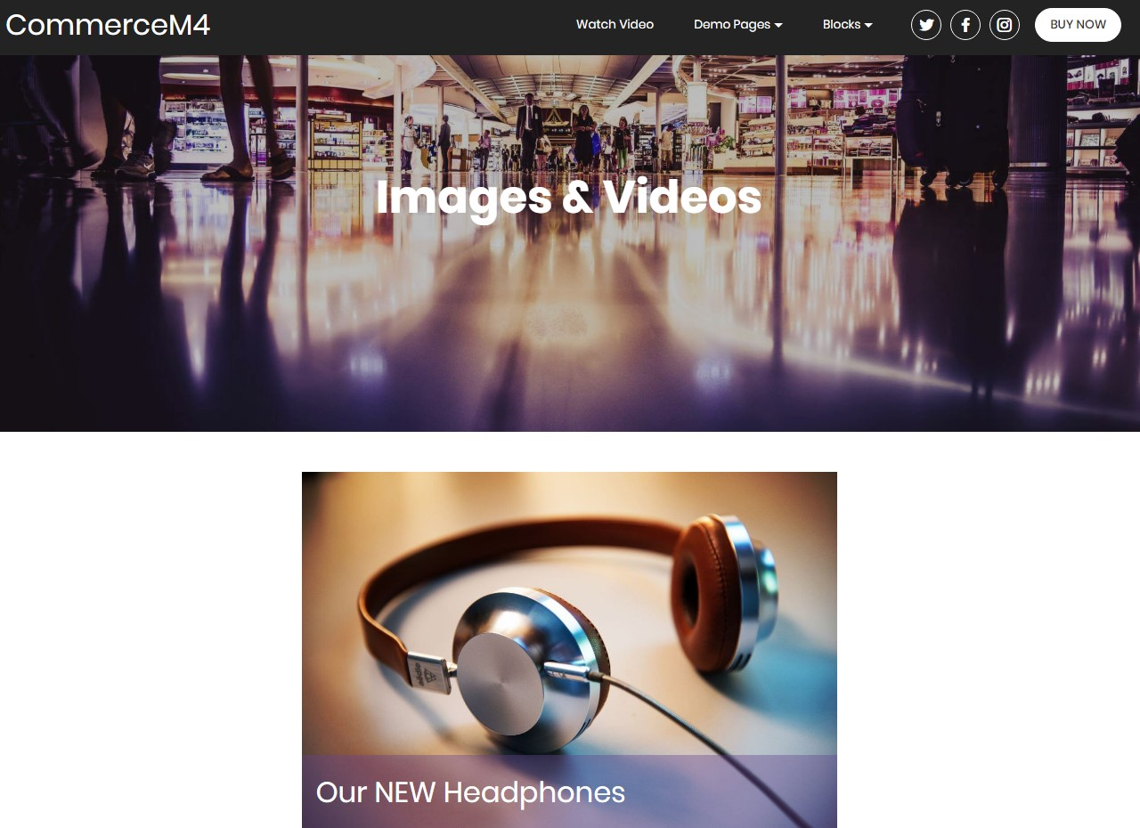 Images and Videos Template for eCommerce Website