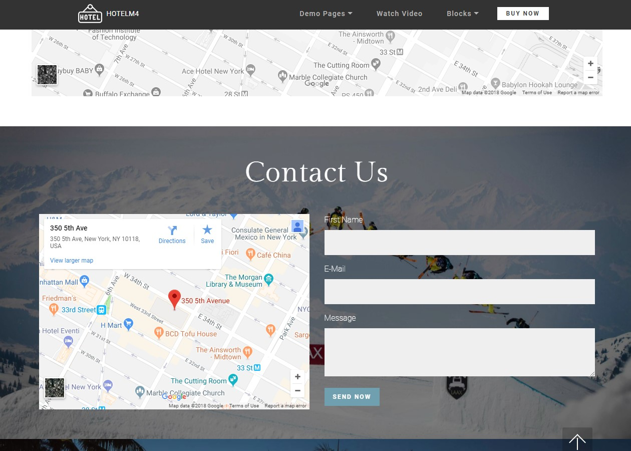 Maps Theme for Hotel Website