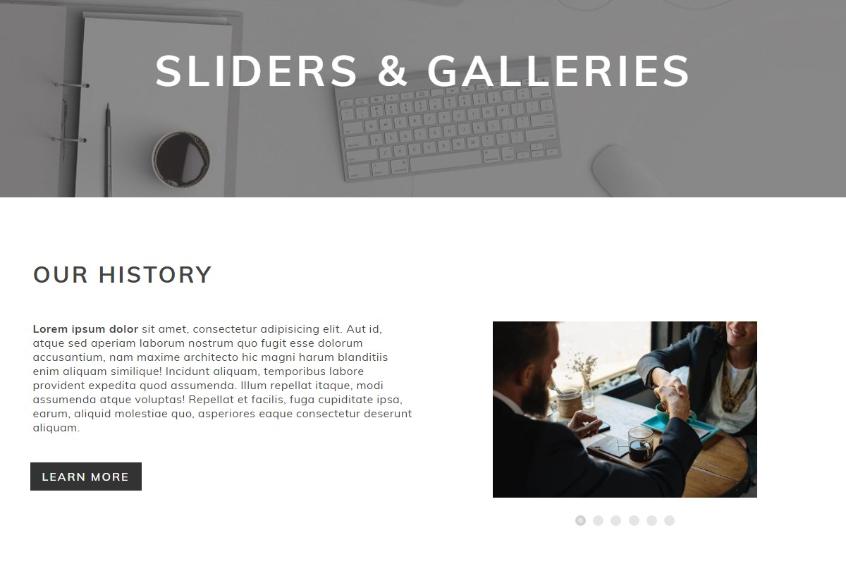 Sliders&Galleries Template