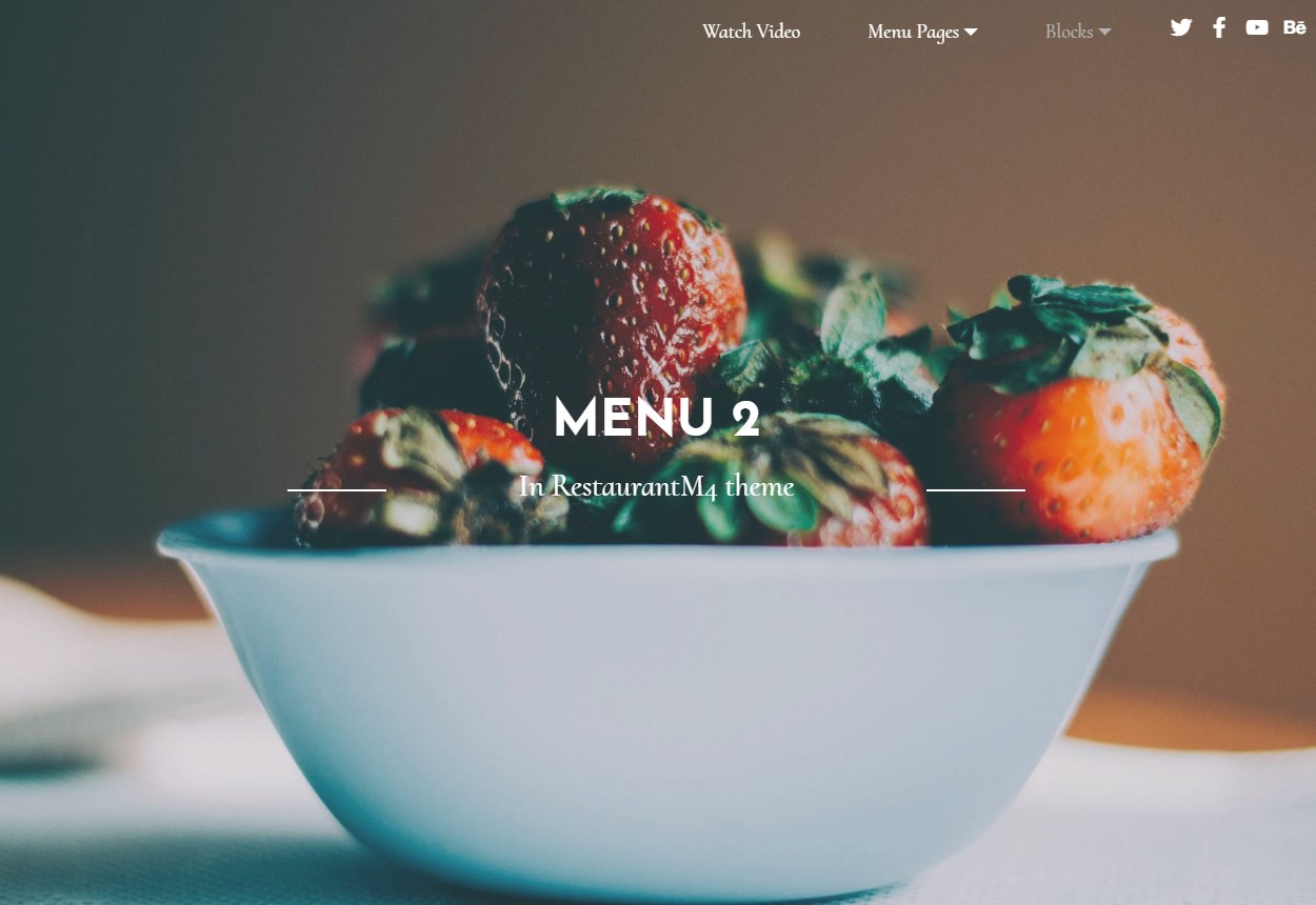 New Bootstrap HTML Restaurant Theme