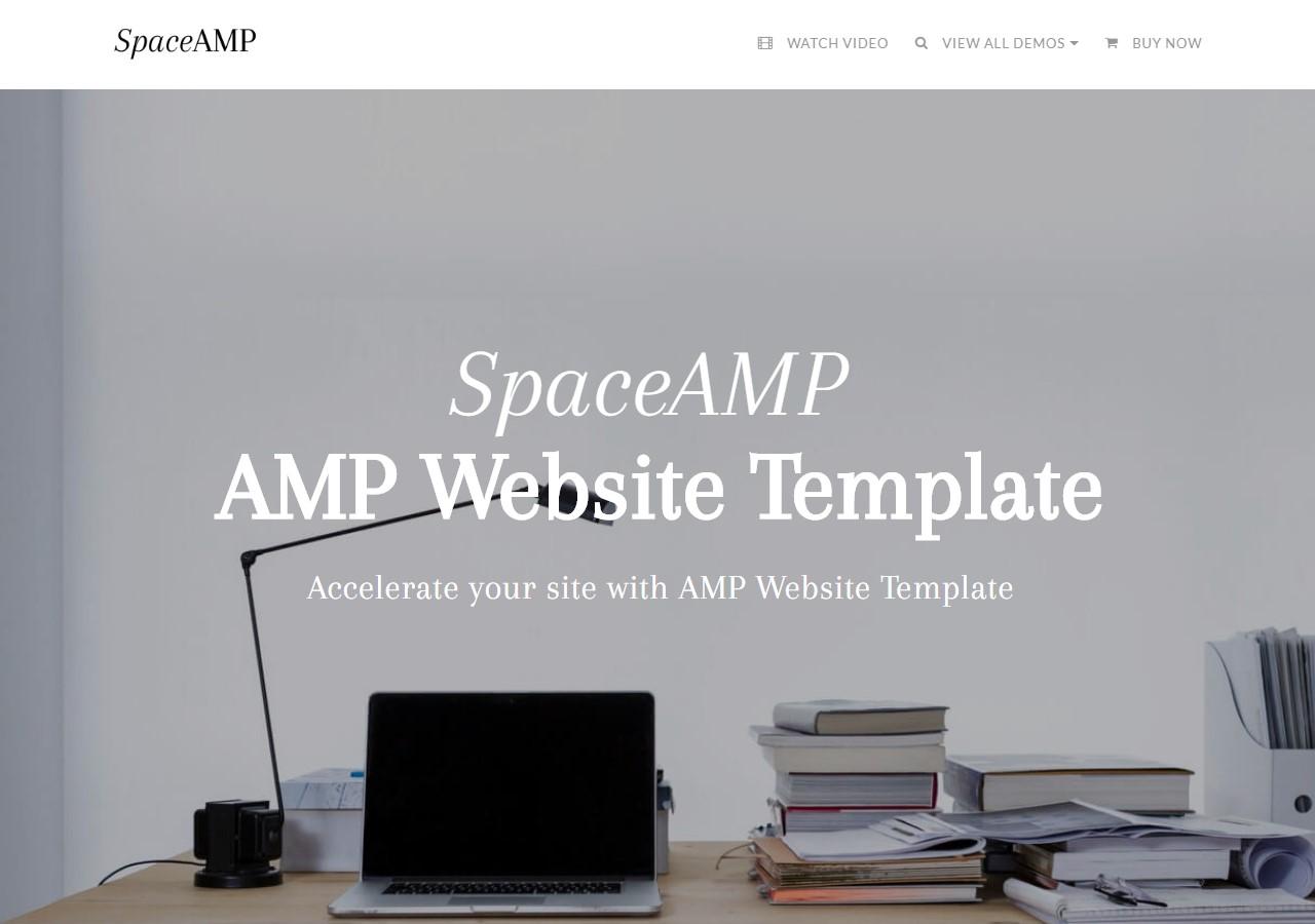 AMP Website Template