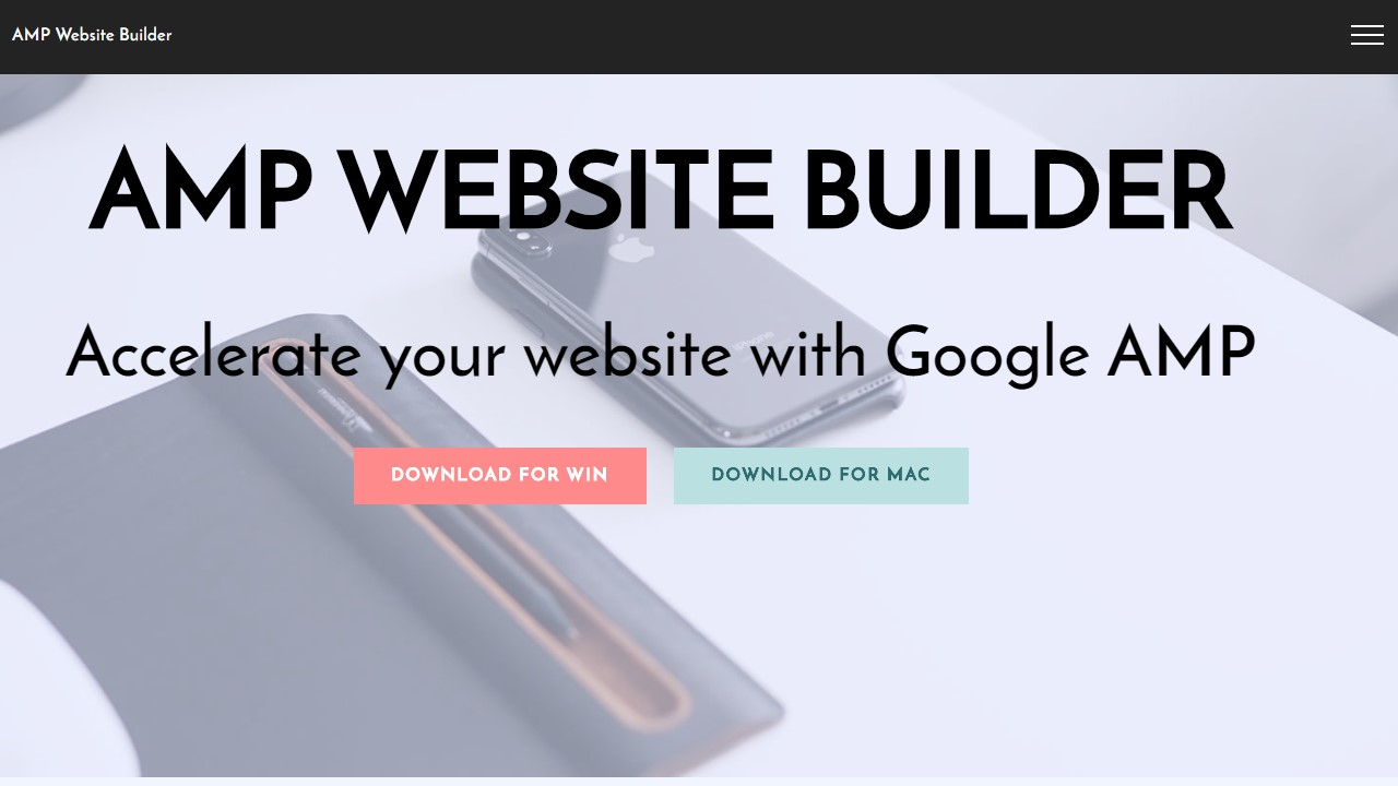 AMP Site Builder with Awesome AMP Templates