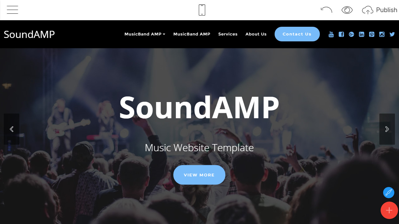 html music website template