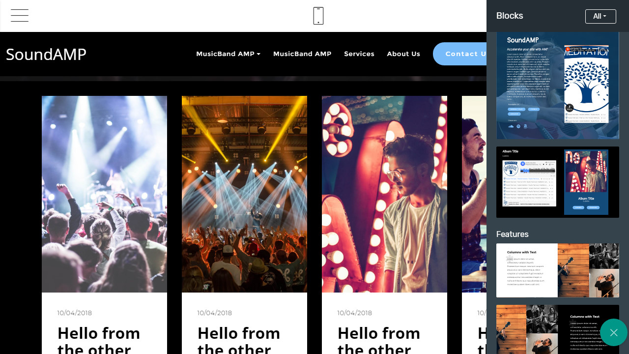 amp html band template