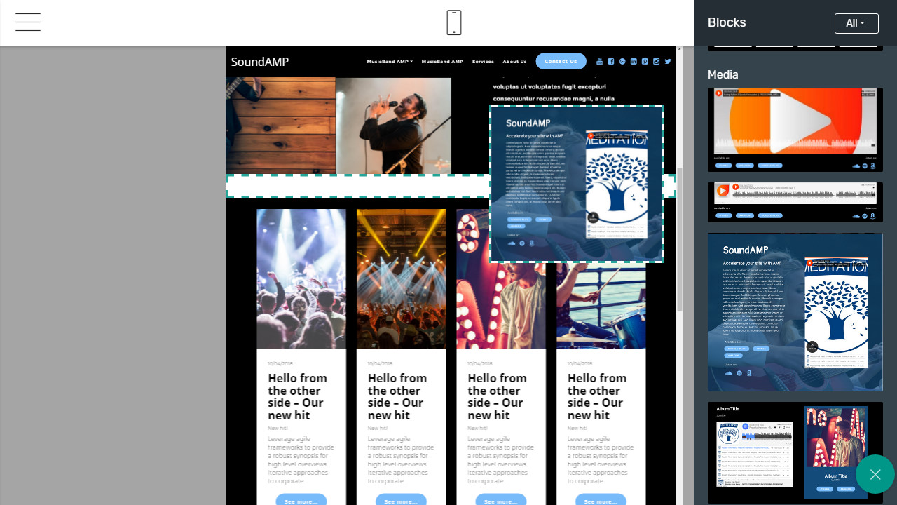 AMP Bootstrap html template