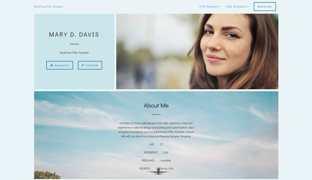 Bootstrap HTML Template
