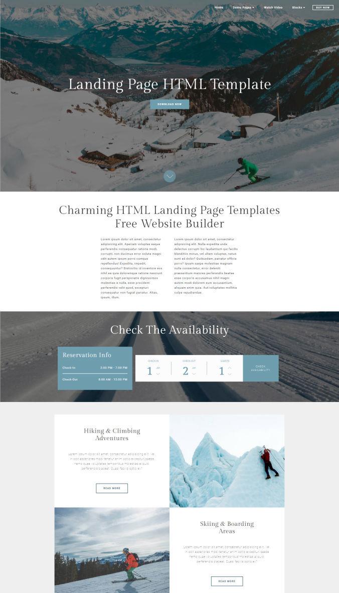 HTML Landing Template