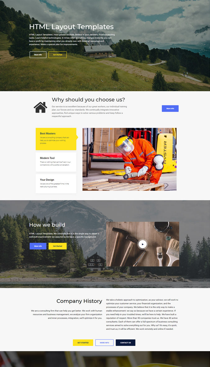 Landing Template with HTML