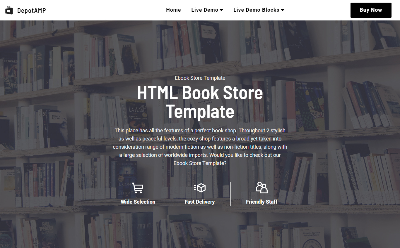 HTML Book Store Template