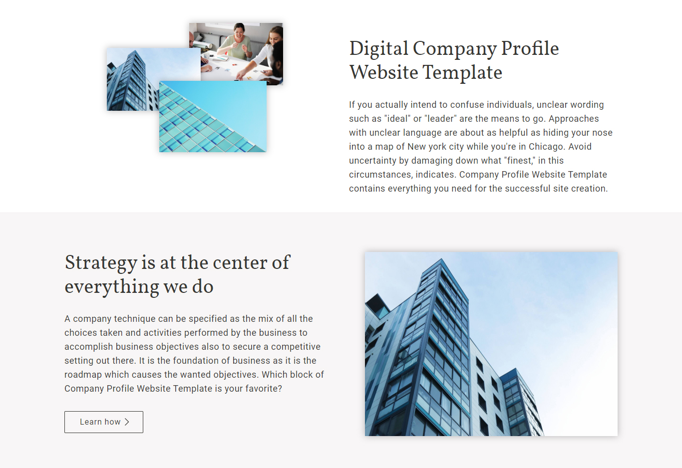 Digital Company Profile Website Template