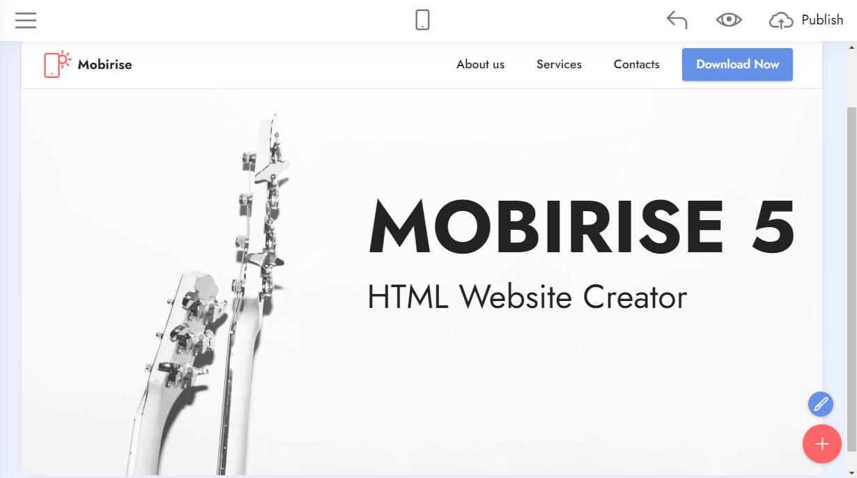 HTML website creator