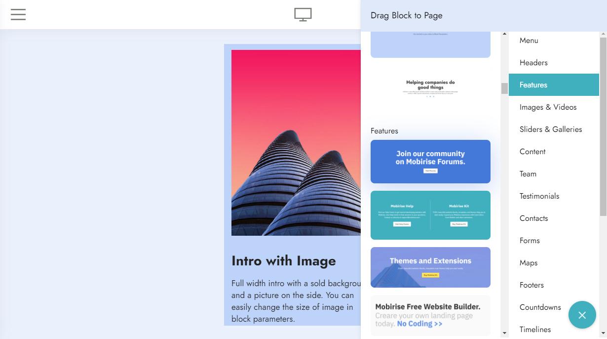 free website builder