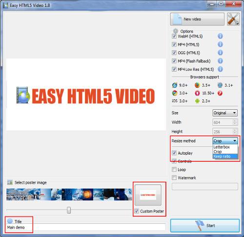 Easy HTML5 Video : HTML 5 Video Converter
