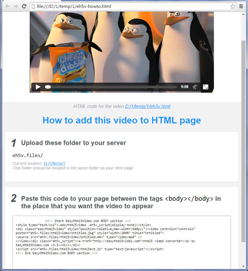 Create HTML videos with the help of an Easy HTML Video software and embed it to your web page with ease